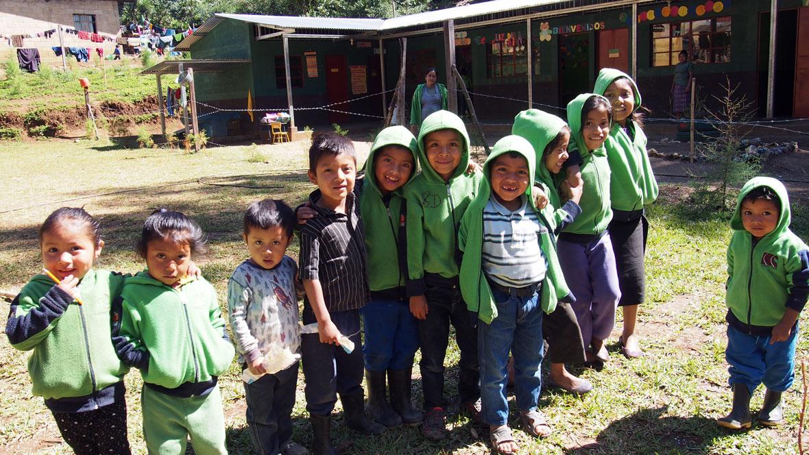 École Rainforest Alliance, Finca La Bolsa, Huehuetenango, Guatemala.