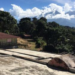 Finca San Rafael, Acatenango - Vue des volcans de Fuego et Acatenango